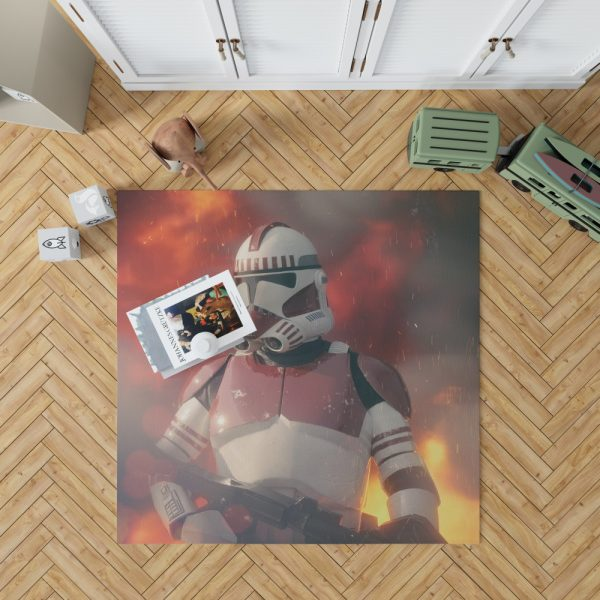 Star Wars Movie Clone Trooper Shock Trooper Bedroom Living Room Floor Carpet Rug 1