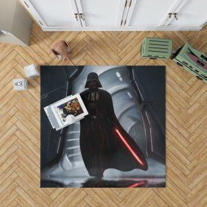 Star Wars Movie Darth Vader Lightsaber Bedroom Living Room Floor Carpet Rug 1