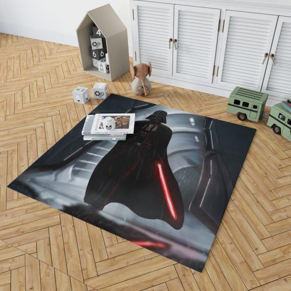 Star Wars Movie Darth Vader Lightsaber Bedroom Living Room Floor Carpet Rug 2