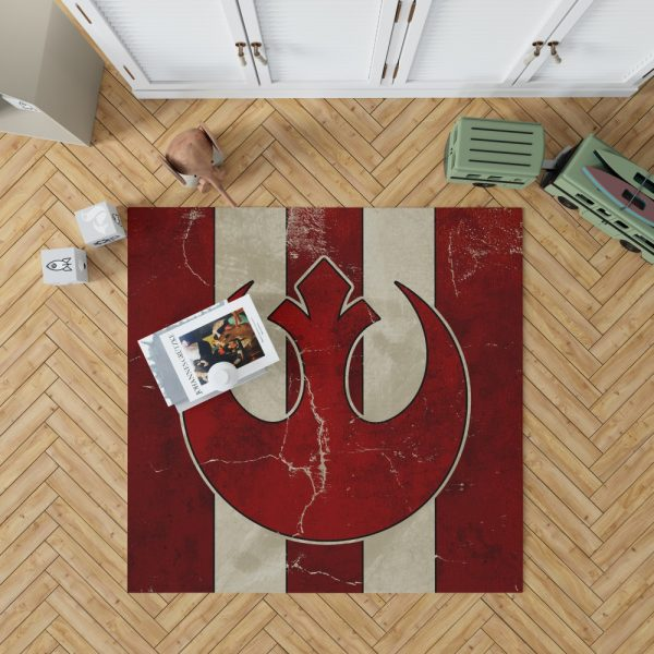 Star Wars Rebel Alliance Helm Movie Logo Bedroom Living Room Floor Carpet Rug 1