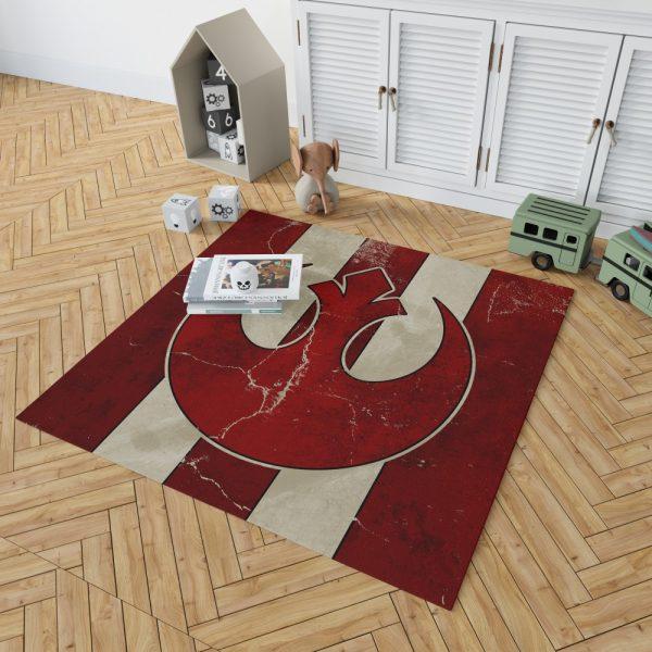 Star Wars Rebel Alliance Helm Movie Logo Bedroom Living Room Floor Carpet Rug 2