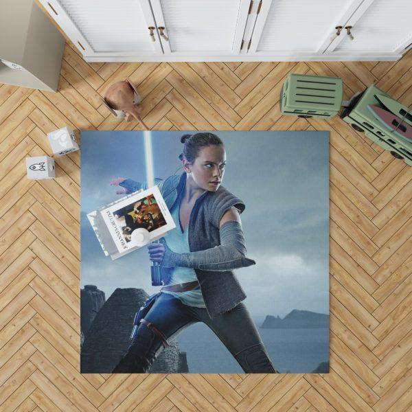 Star Wars The Last Jedi Movie Daisy Ridley Jedi Rey Star Wars Bedroom Living Room Floor Carpet Rug 1