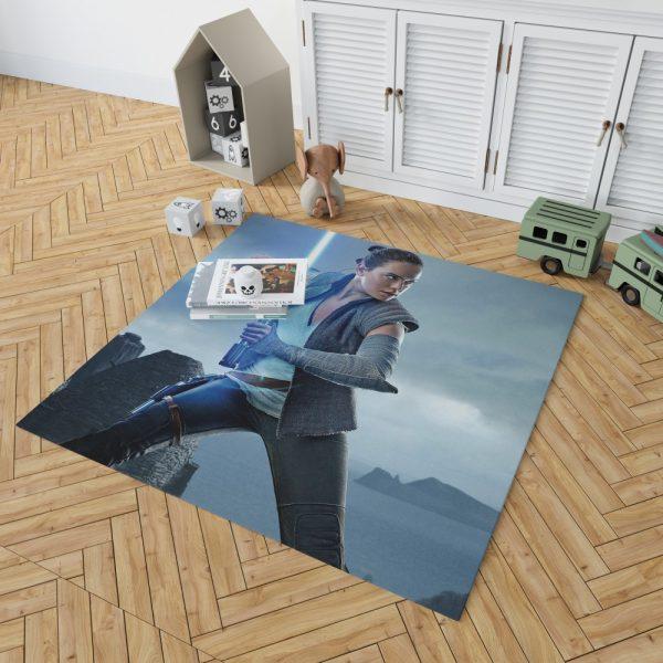 Star Wars The Last Jedi Movie Daisy Ridley Jedi Rey Star Wars Bedroom Living Room Floor Carpet Rug 2