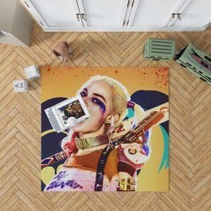 Suicide Squad Movie Harley Quinn Margot Robbie Bedroom Living Room Floor Carpet Rug 1