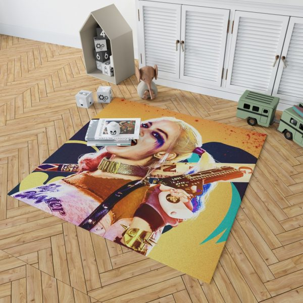 Suicide Squad Movie Harley Quinn Margot Robbie Bedroom Living Room Floor Carpet Rug 2