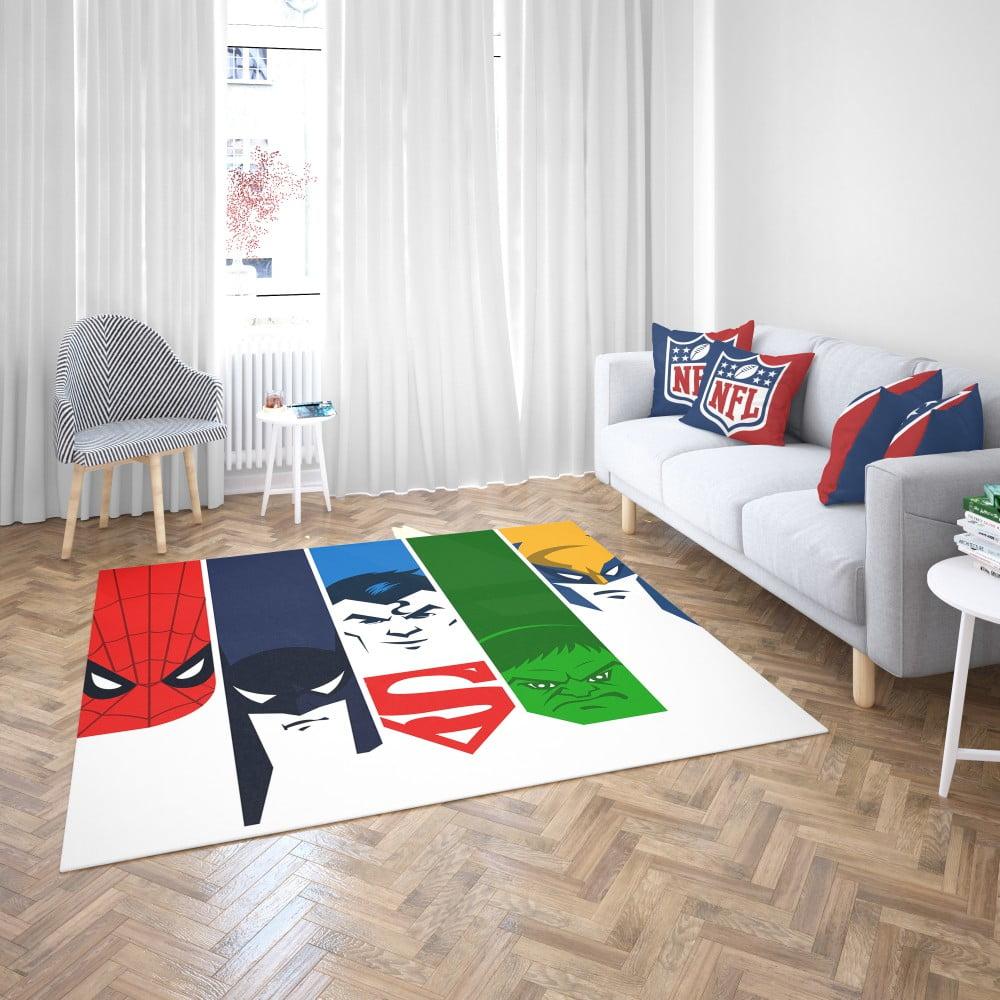 Superheroes Spider Man Batman Superman Hulk Wolverine