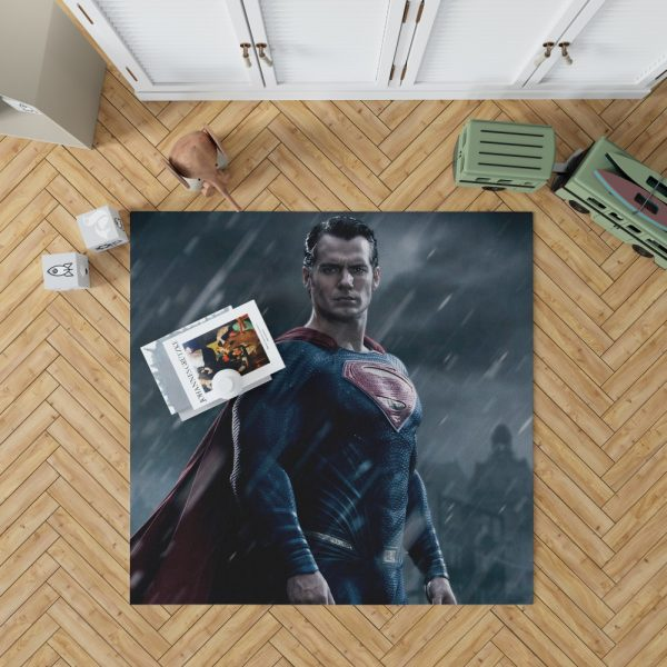 Superman in Batman v Superman Dawn of Justice Movie Bedroom Living Room Floor Carpet Rug 1