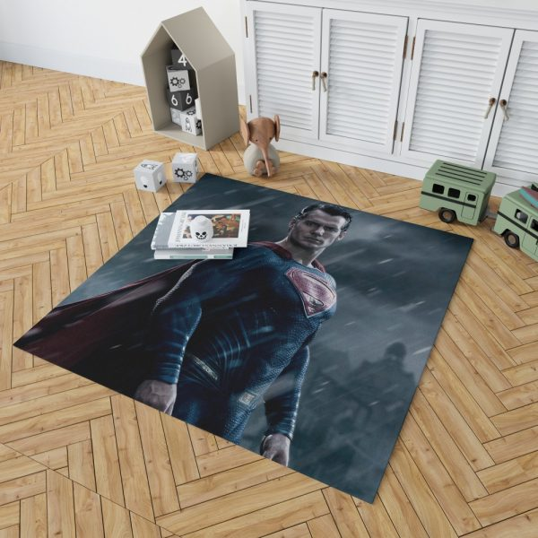 Superman in Batman v Superman Dawn of Justice Movie Bedroom Living Room Floor Carpet Rug 2