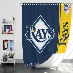 Tampa Bay Rays MLB Baseball American League Bath Shower Curtain