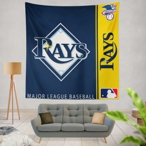 Tampa Bay Rays MLB Baseball American League Wall Hanging Tapestry