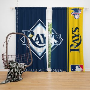 Tampa Bay Rays MLB Baseball American League Window Curtain