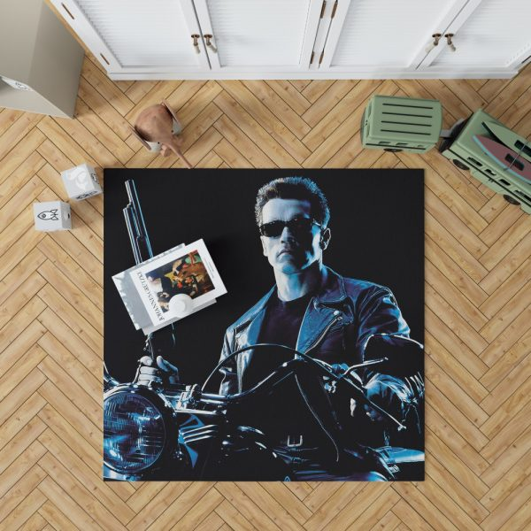 Terminator 2 Judgment Day Movie Arnold Schwarzenegger Bedroom Living Room Floor Carpet Rug 1