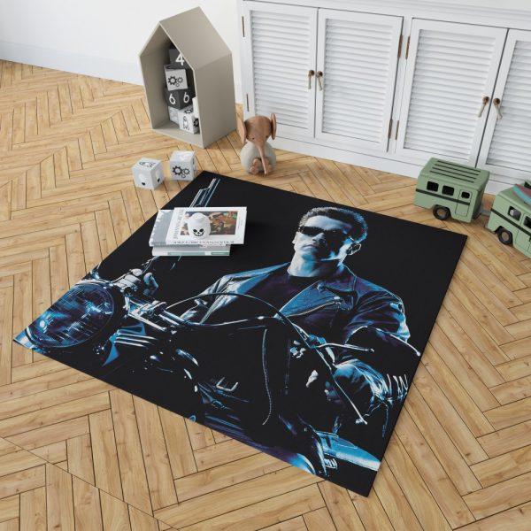 Terminator 2 Judgment Day Movie Arnold Schwarzenegger Bedroom Living Room Floor Carpet Rug 2
