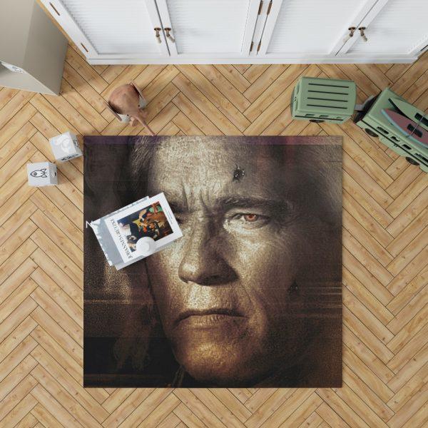 Terminator Genisys Movie Terminator Arnold Schwarzenegger Bedroom Living Room Floor Carpet Rug 1
