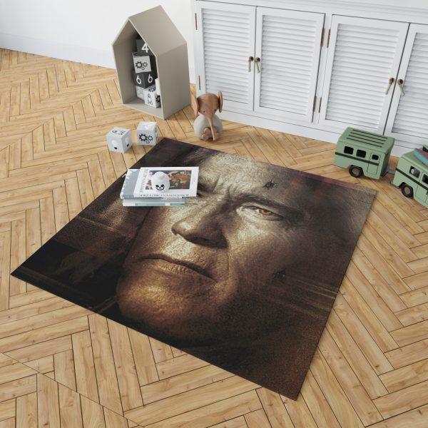 Terminator Genisys Movie Terminator Arnold Schwarzenegger Bedroom Living Room Floor Carpet Rug 2