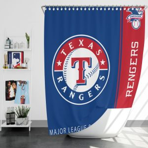 Texas Rangers MLB Baseball American League Bath Shower Curtain