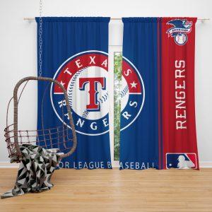 Texas Rangers MLB Baseball American League Window Curtain