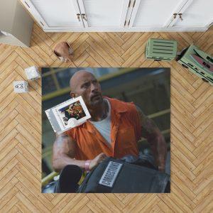 The Fate of The Furious Movie Dwayne Johnson Luke Hobbs Bedroom Living Room Floor Carpet Rug 1