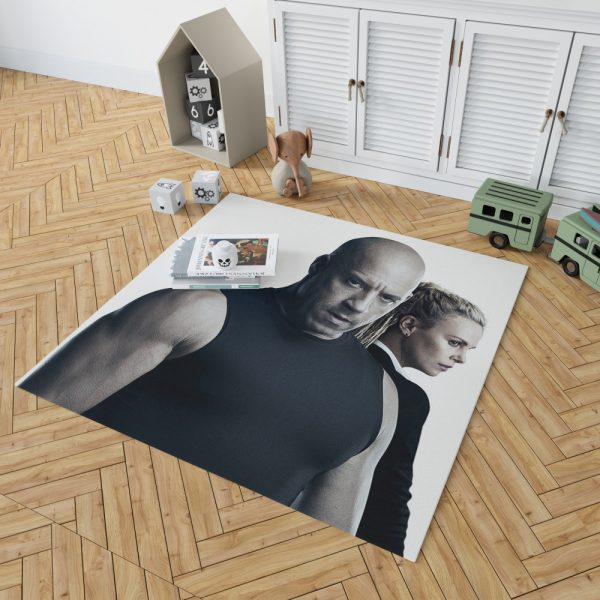 The Fate of the Furious Vin Diesel Charlize Theron Bedroom Living Room Floor Carpet Rug 2