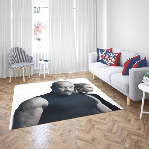 The Fate of the Furious Vin Diesel Charlize Theron Bedroom Living Room Floor Carpet Rug 3
