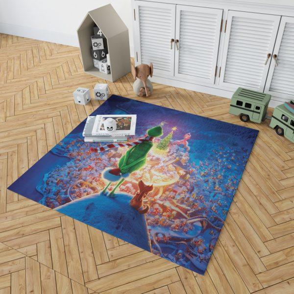 The Grinch Movie Christmas Bedroom Living Room Floor Carpet Rug 2