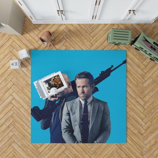 The Hitman's Bodyguard Movie Ryan Reynolds Samuel L Jackson Bedroom Living Room Floor Carpet Rug 1