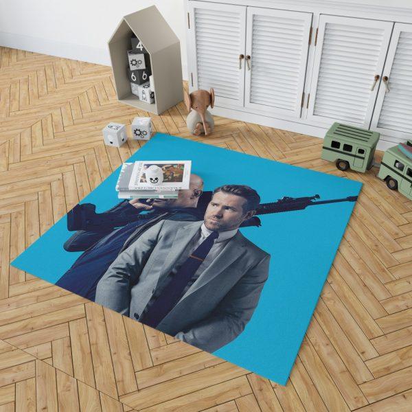 The Hitman's Bodyguard Movie Ryan Reynolds Samuel L Jackson Bedroom Living Room Floor Carpet Rug 2
