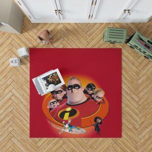 The Incredibles Movie Bob Parr Dash Parr Disney Elastigirl Helen Parr Bedroom Living Room Floor Carpet Rug 1