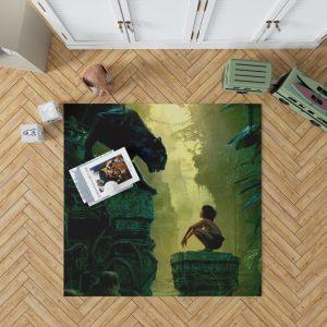 The Jungle Book 2016 Movie Bagheera Mowgli Bedroom Living Room Floor Carpet Rug 1
