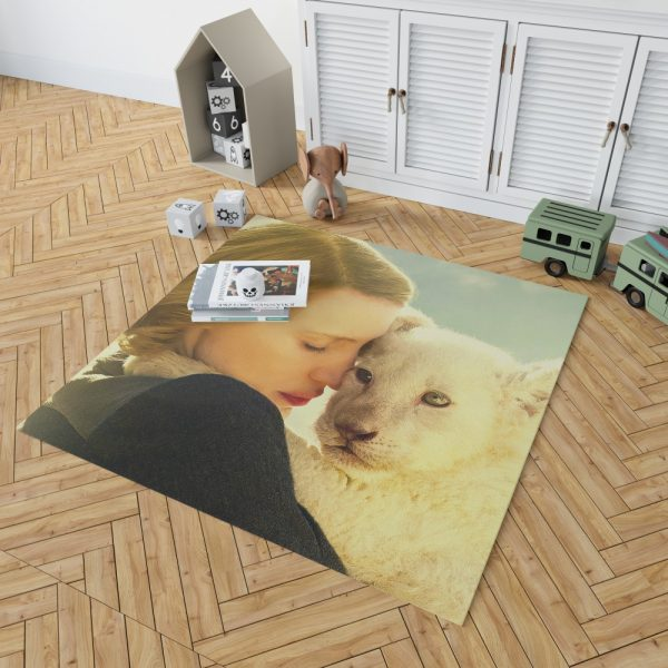 The Zookeeper's Wife Movie Jessica Chastain Bedroom Living Room Floor Carpet Rug 2