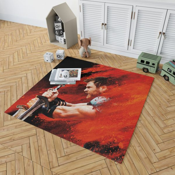 Thor Ragnarok Thor Chris Hemsworth Bedroom Living Room Floor Carpet Rug 2