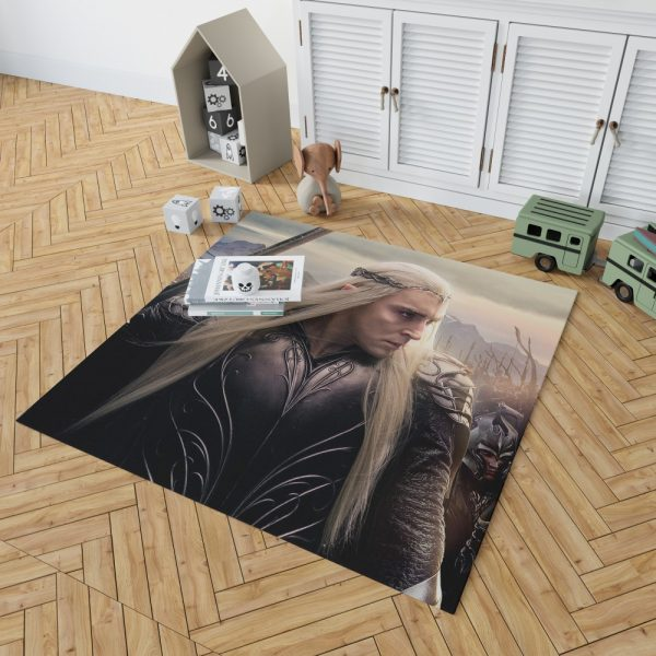 Thranduil Elvenking in The Hobbit Battle of the Five Armies Movie Bedroom Living Room Floor Carpet Rug 2