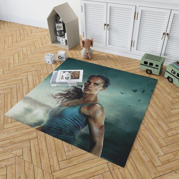Tomb Raider Alicia Vikander Lara Croft Bath Bedroom Living Room Floor Carpet Rug 2