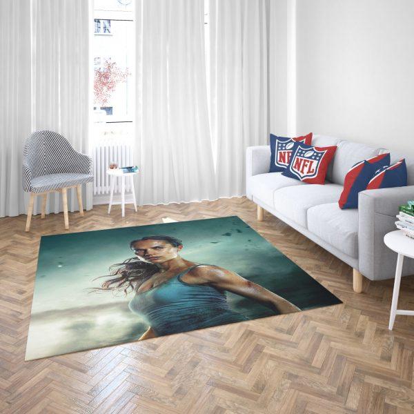 Tomb Raider Alicia Vikander Lara Croft Bath Bedroom Living Room Floor Carpet Rug 3