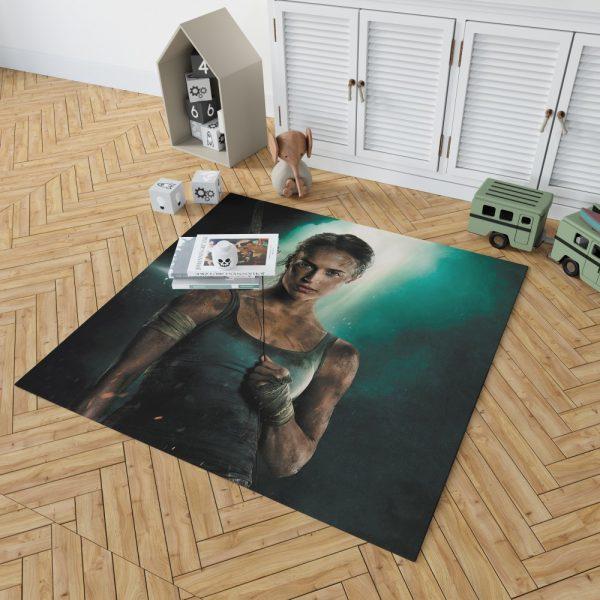 Tomb Raider Alicia Vikander Lara Croft Bedroom Living Room Floor Carpet Rug 2