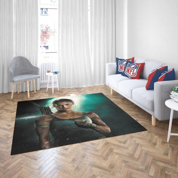 Tomb Raider Alicia Vikander Lara Croft Bedroom Living Room Floor Carpet Rug 3