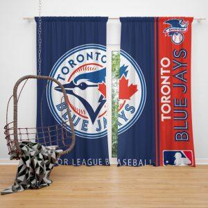 Toronto Blue Jays MLB Baseball American League Window Curtain