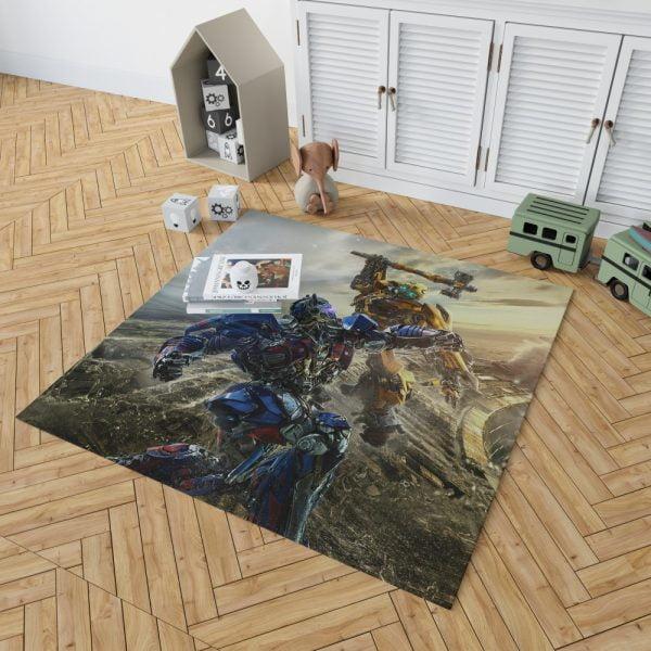 Transformers Bumblebee Optimus Prime Fight Bedroom Living Room Floor Carpet Rug 2
