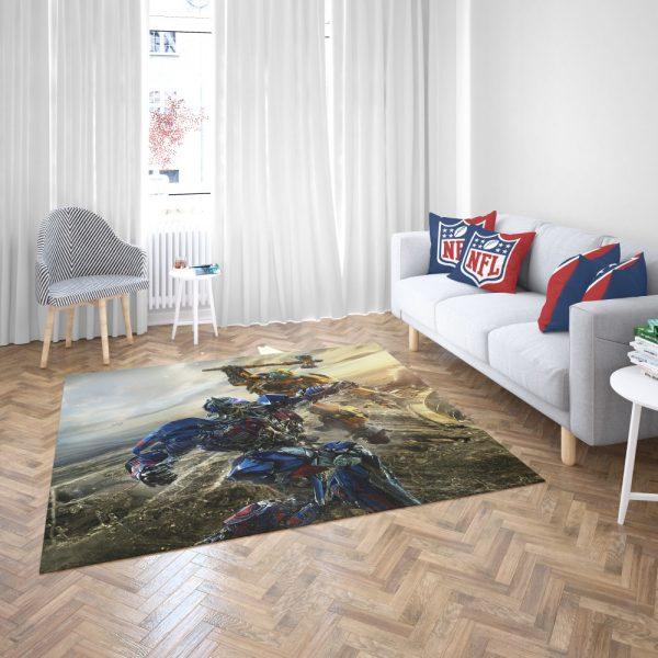 Transformers Bumblebee Optimus Prime Fight Bedroom Living Room Floor Carpet Rug 3