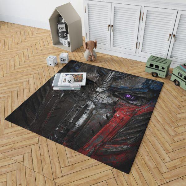 Transformers The Last Knight Movie Optimus Prime Transformers 5 Bedroom Living Room Floor Carpet Rug 2