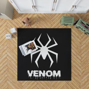 Venom Movie Black Shapes Symbol Venom Bedroom Living Room Floor Carpet Rug 1