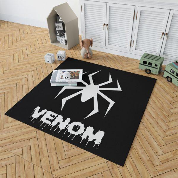 Venom Movie Black Shapes Symbol Venom Bedroom Living Room Floor Carpet Rug 2