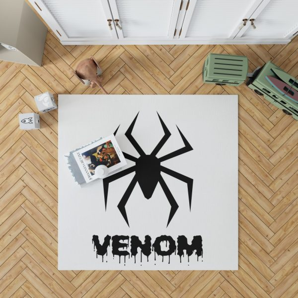 Venom Movie Black Symbol Bedroom Living Room Floor Carpet Rug 1