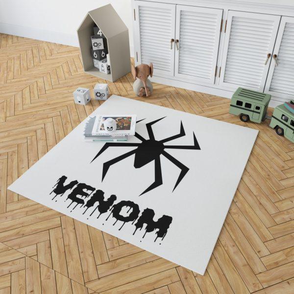 Venom Movie Black Symbol Bedroom Living Room Floor Carpet Rug 2
