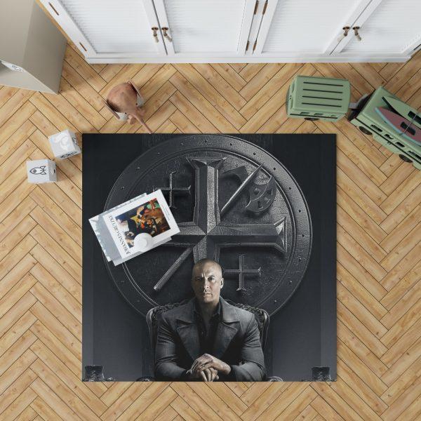 Vin Diesel in The Last Witch Hunter Movie Bedroom Living Room Floor Carpet Rug 1