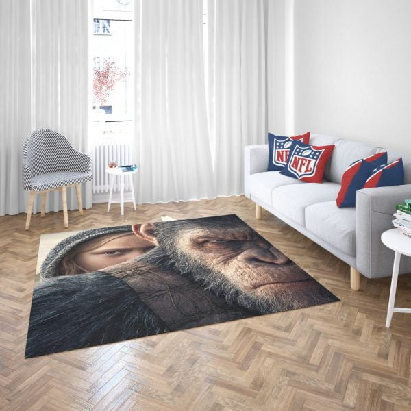 War For The Planet Of The Apes Bedroom Living Room Floor Carpet Rug 3