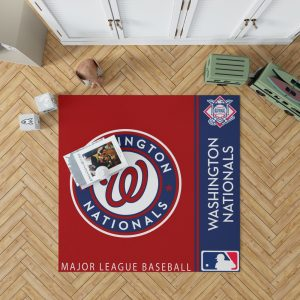 Washington Nationals MLB Baseball National League Floor Carpet Rug Mat 1