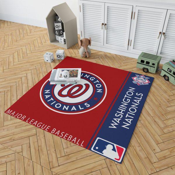 Washington Nationals MLB Baseball National League Floor Carpet Rug Mat 2