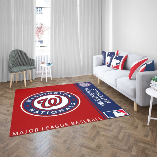 Washington Nationals MLB Baseball National League Floor Carpet Rug Mat 3
