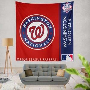 Washington Nationals MLB Baseball National League Wall Hanging Tapestry